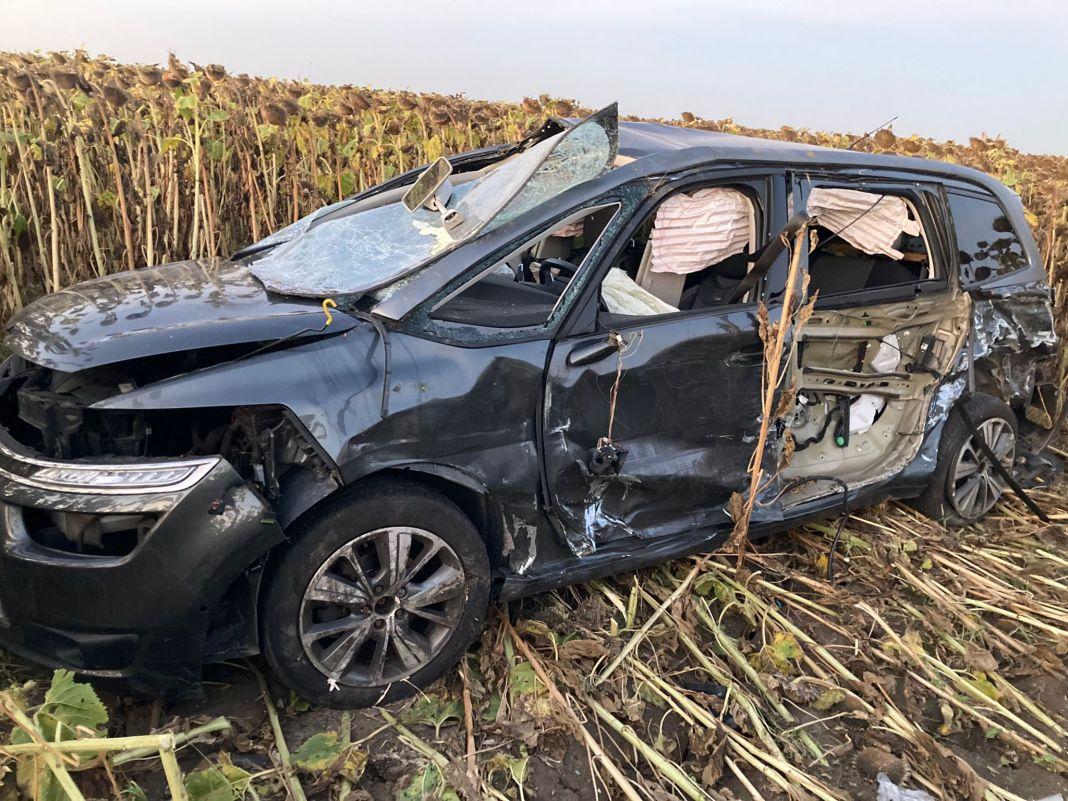 Trei mașini implicate într-un accident pe DN65