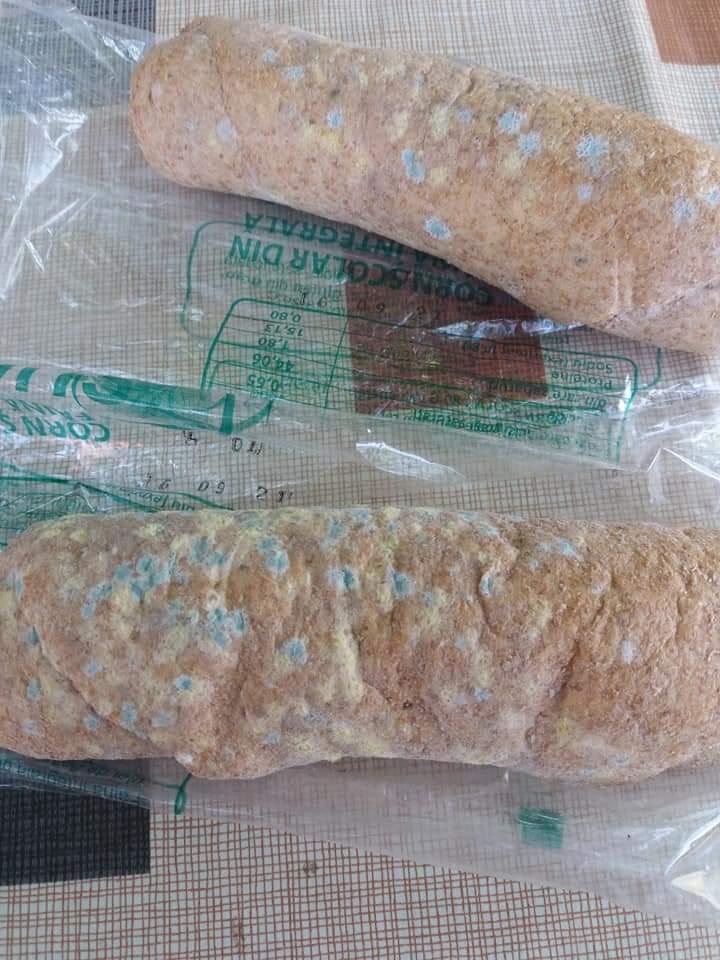 Părinţii unui elev din Dolj reclamă că şcoala a dat cornuri cu mucegai