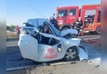 Accident pe Centura de Nord a Craiovei. O femeie a ajuns la spital( Sursa foto: Infotrafic Craiova și Dolj)