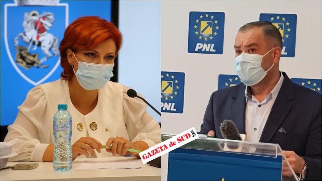 Marian Vasile îi răspunde Olguţei Vasilescu. Războiul declaraţiilor dintre şefii de la Craiova ai PNL şi PSD continuă.