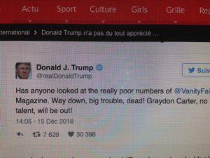 Donald Trump n'apprécie pas la Critique Gastronomique