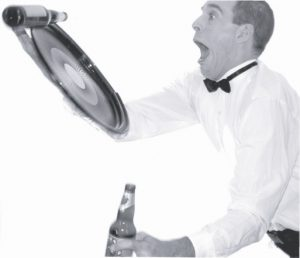 Serveur Loufoque , faux serveur, serveur gaffeur, ou serveur maladroit