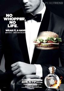 Burger King lance son parfum Whopper