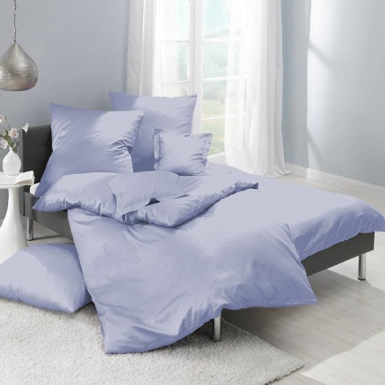 lorena 7190 classic uni maco satin bedding set light blue 140 220