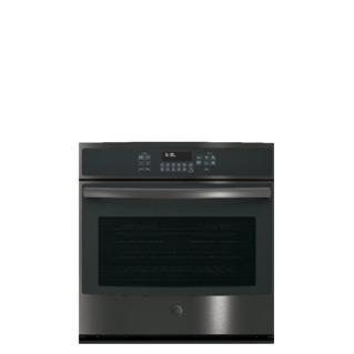 sleek black stainless steel appliances