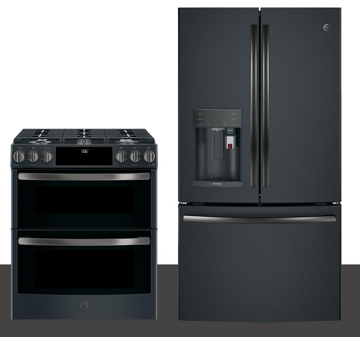 ge black slate appliances resist