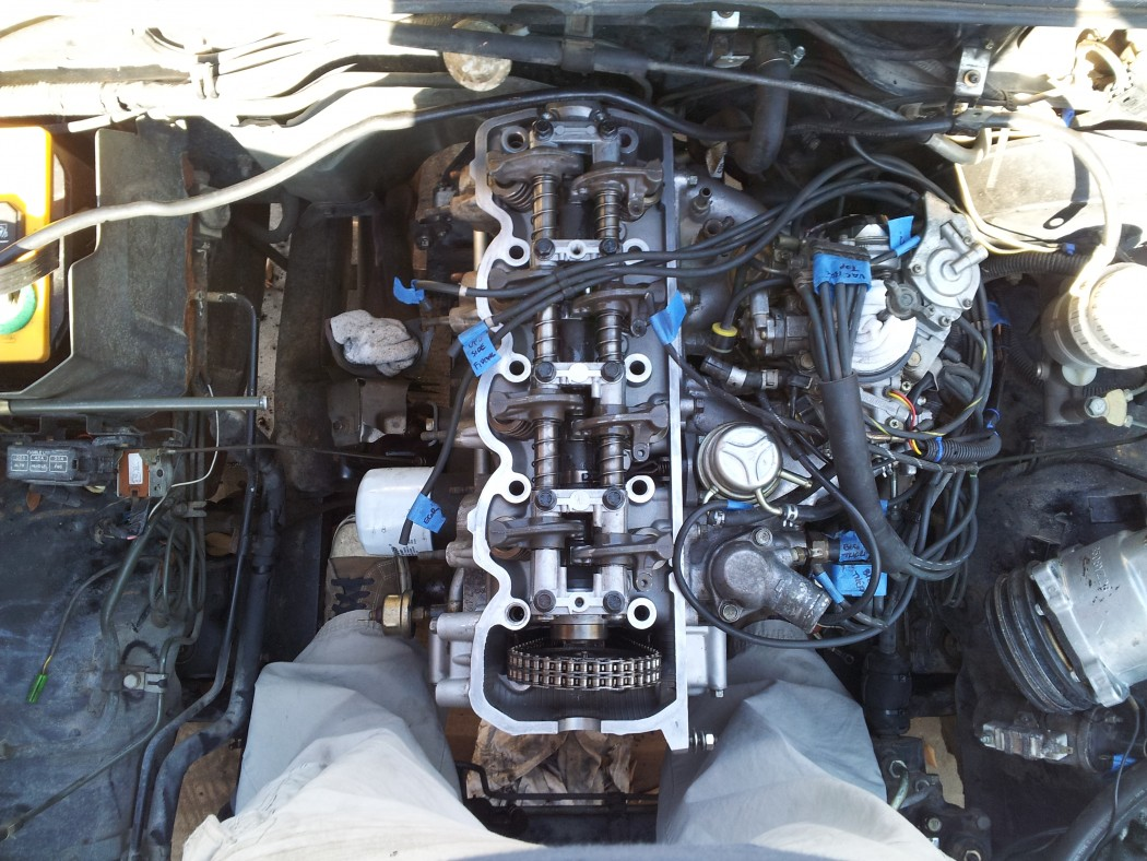 Plenty of foot room in the engine bay