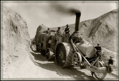 Hauling borax out of Death Valley in 1904 (110 years ago).