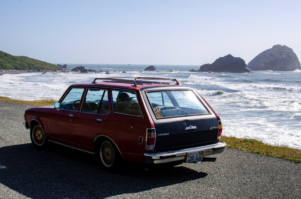 Wagon by the beach, Crescent City, CA.