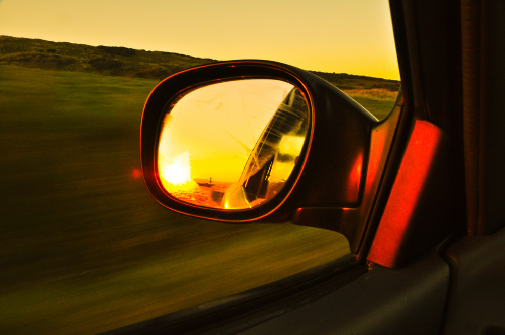 view_mirror_side_sunset_flickr_cc