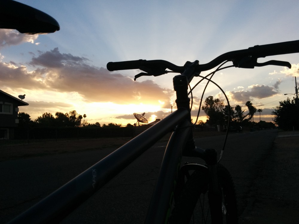 The morning ride has its perks.