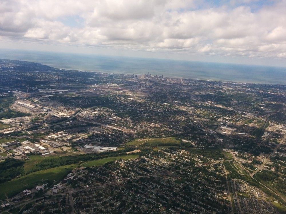 Descent into Cleveland, 2014.