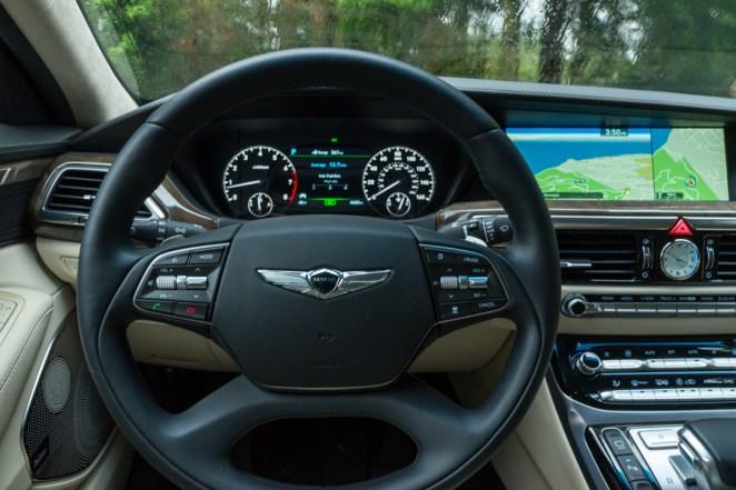 Genesis G90 driver's view