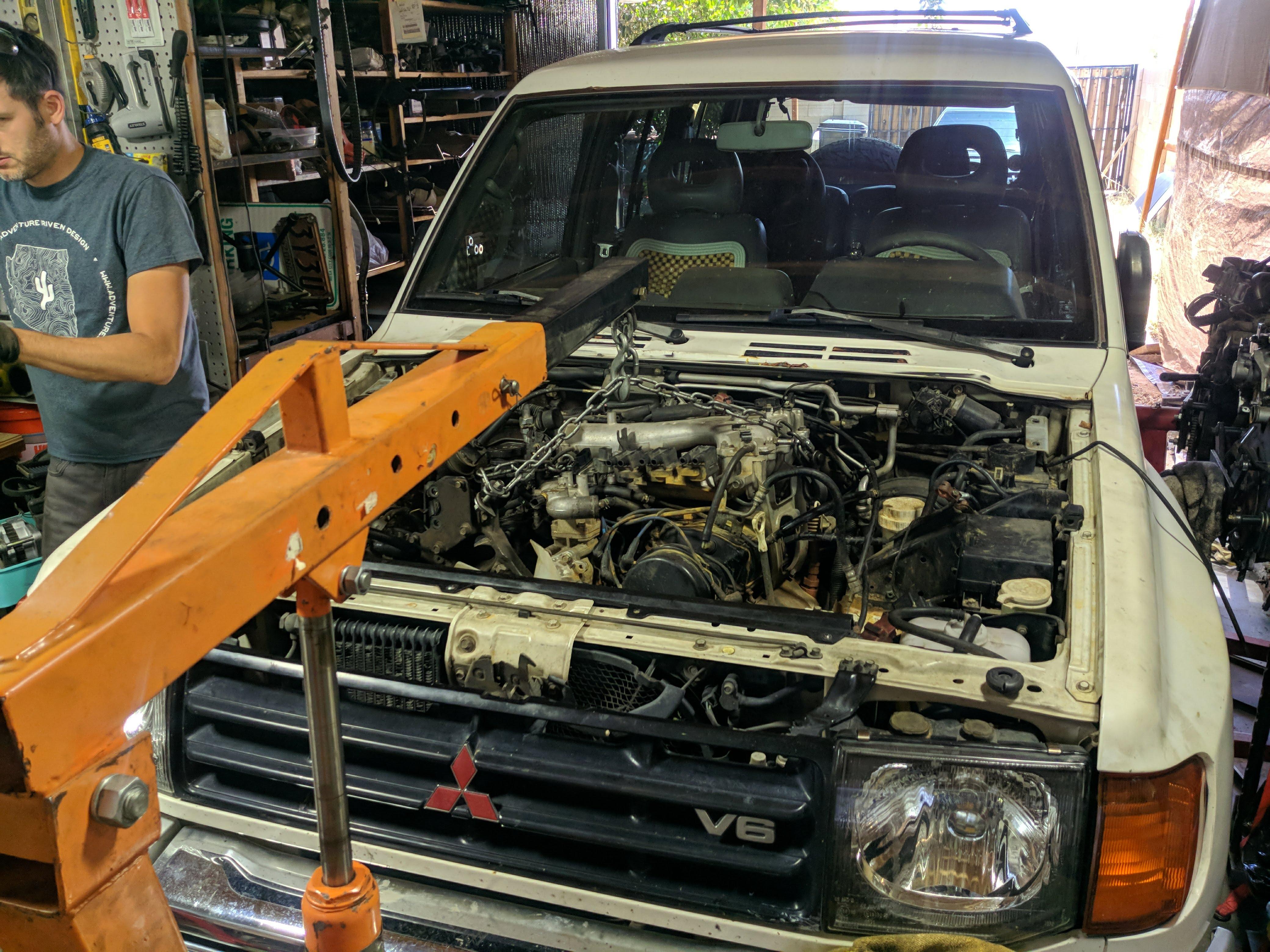 Engine hooked up