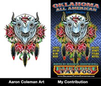 "Richard & Jen Stell's Oklahoma All American - Aaron Coleman & Myself - 11""x17"" 2015"