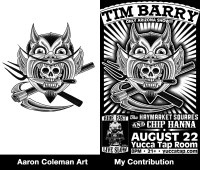 "Tim Barry - Aaron Coleman & Myself - 11""x17"""