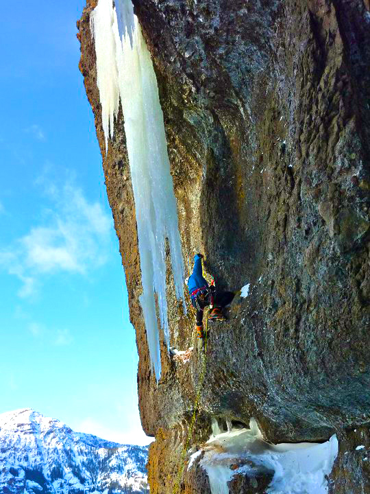 Wayne Wallace Marko Pujic Ice Climb