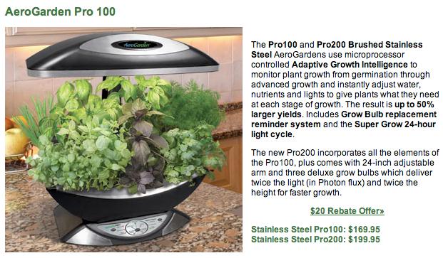 AeroGarden Pro 100 - Indoor Gardening Made Simple - Review  AeroGarden Pro 100 - Indoor Gardening Made Simple - Review