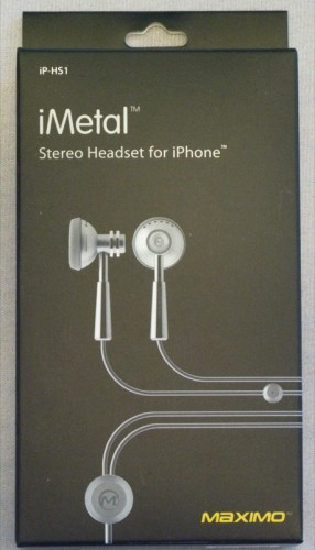The Maximo Products iMetal iPhone Headsets Review  The Maximo Products iMetal iPhone Headsets Review  The Maximo Products iMetal iPhone Headsets Review