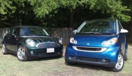 MINI Cooper and smart fortwo – good things come in small packages