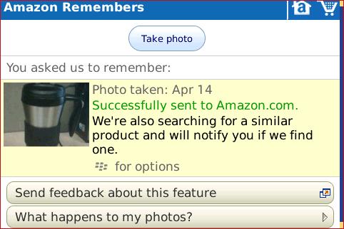 Amazon App for BlackBerry Review