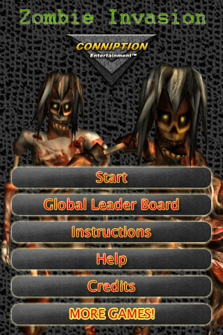 Zombie Invasion - iPhone Game  Zombie Invasion - iPhone Game