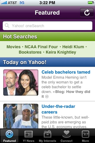 Yahoo! iPhone App Review