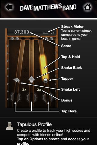 Review:  Tap Tap Revenge - Dave Matthews Band  Review:  Tap Tap Revenge - Dave Matthews Band  Review:  Tap Tap Revenge - Dave Matthews Band  Review:  Tap Tap Revenge - Dave Matthews Band