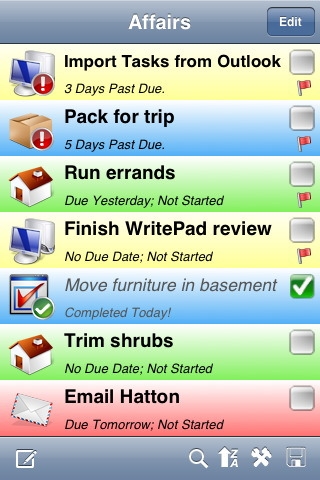 GearDiary Review: PhatWare's WritePad Notes, Affairs, and Events