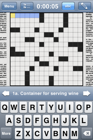 The New York Times Crosswords for iPhone and iPod Touch Review  The New York Times Crosswords for iPhone and iPod Touch Review  The New York Times Crosswords for iPhone and iPod Touch Review