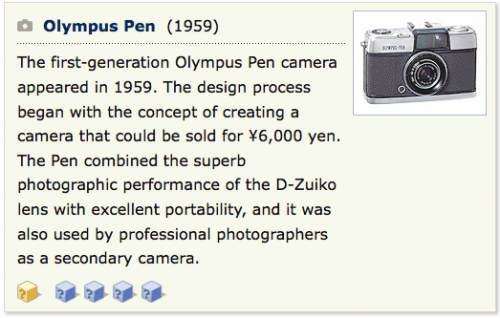Olympus Pen History