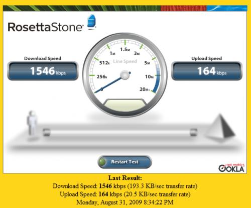 Rosetta Stone Speed Test