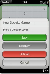Palm Pre App Catalog. 30 Apps in 30 Days. Day 10: Sudoku!  Palm Pre App Catalog. 30 Apps in 30 Days. Day 10: Sudoku!