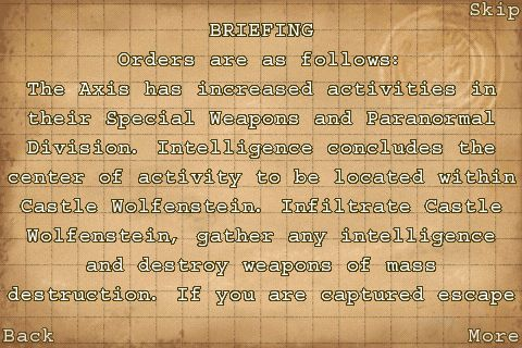 Wolfenstein RPG for iPhone Review  Wolfenstein RPG for iPhone Review  Wolfenstein RPG for iPhone Review  Wolfenstein RPG for iPhone Review