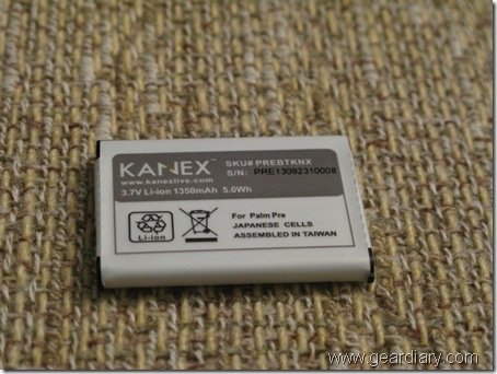 Review: Kanex High Capacity Battery for the Palm Pre