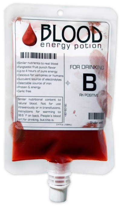 "Blood Energy Potion - because bloodlust never just ""goes away"""