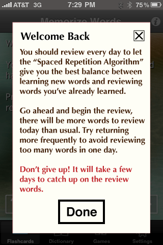 Review: Memorize Words for Spanish for iPhone  Review: Memorize Words for Spanish for iPhone  Review: Memorize Words for Spanish for iPhone  Review: Memorize Words for Spanish for iPhone