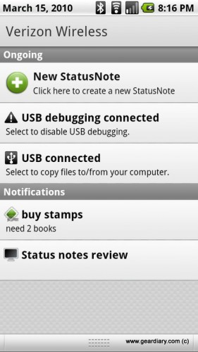 Review: StatusNote for Android