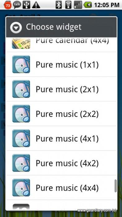 Pure Music Widget Review