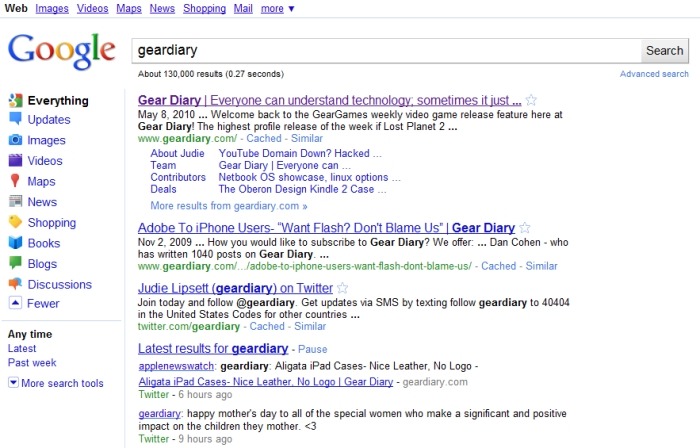 Ditch the Everything Bar on Google's Search Page  Ditch the Everything Bar on Google's Search Page