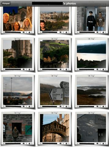Flickpad: Fun Way To View Facebook Photos on iPad