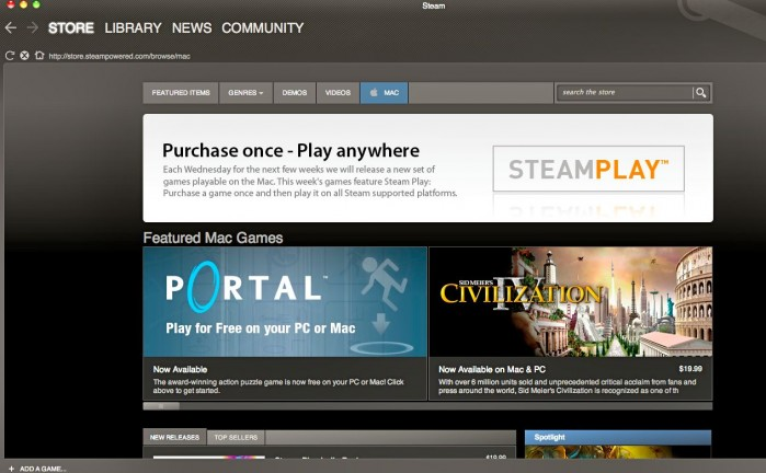 Steam on Mac First Impressions (also Portal and Torchlight)