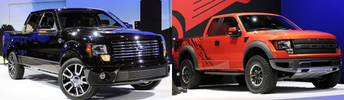 Ford F-150 expanded portfolio: Harley and Raptor