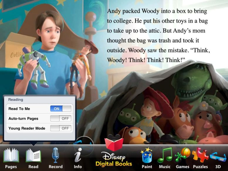 Read Along with Woody, Buzz and the Gang:  Toy Story 3 for iPad Review  Read Along with Woody, Buzz and the Gang:  Toy Story 3 for iPad Review  Read Along with Woody, Buzz and the Gang:  Toy Story 3 for iPad Review
