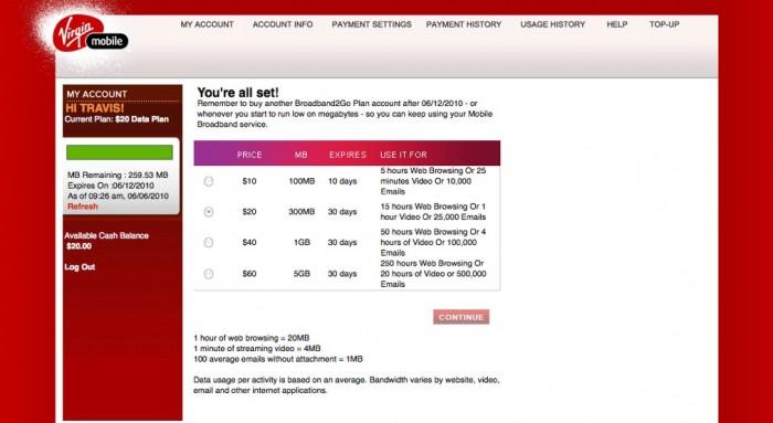 Review:  Virgin Mobile Broadband2Go Wireless USB Modem