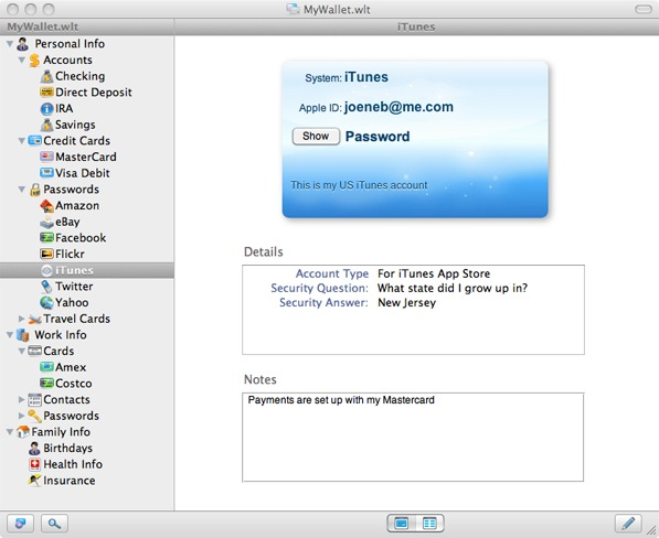 GearDiary eWallet for Mac OS X Now Available
