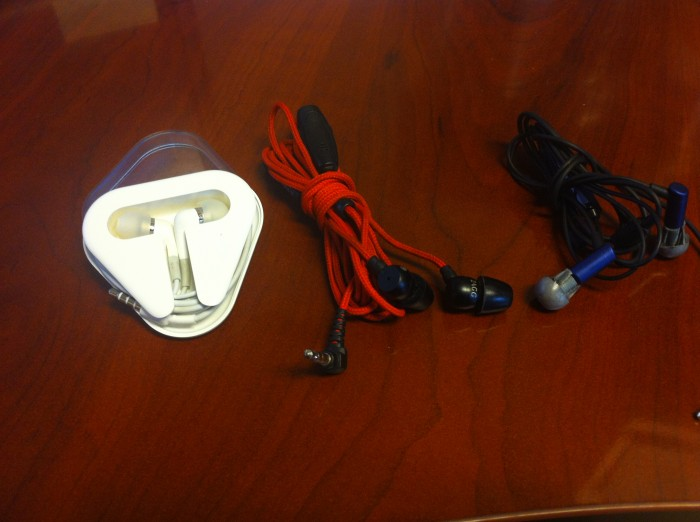 Gear vs Gear- Zagg Z-Buds, Apple's In-Ear headphones, and Etymotic HF2 headphones