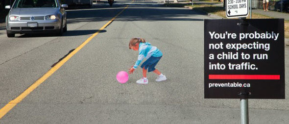 Child-in-the-Road Decal: Safety Enhancement or Recipe for Disaster?