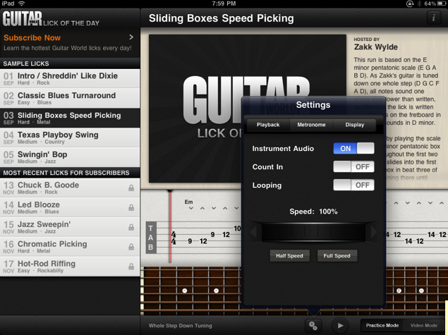 Guitar World Lick of the Day for iPhone/Touch/iPad Review  Guitar World Lick of the Day for iPhone/Touch/iPad Review  Guitar World Lick of the Day for iPhone/Touch/iPad Review  Guitar World Lick of the Day for iPhone/Touch/iPad Review  Guitar World Lick of the Day for iPhone/Touch/iPad Review