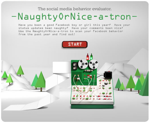 Random Cool Stuff: Honda's App Tells If You Were Naughty Or Nice on FaceBook This Year ... But Beware!